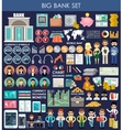 Big bank set vector image vector image
