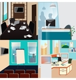 Business Interior Set Office Work Place vector image