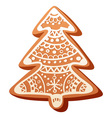 Christmas gingerbread baked cookie isolated vector image vector image