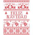 christmas pattern spanish feliz navidad vector image vector image