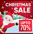 christmas sale discount up to 70 percent vector image vector image
