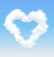Clouds Shaped Heart Border Blue Sky vector image vector image