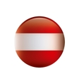 Color silhouette with flag of austria in round
