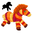 Colorful soft toy horses animal isolated vector image vector image