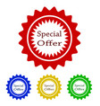 colorful special offer tag design stock vector image