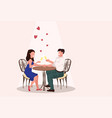 couple in love sitting cafe drinking champagne vector image