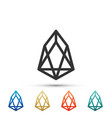 cryptocurrency coin eos icon isolated vector image vector image