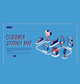 customer journey map isometric landing page banner vector image vector image