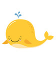 cute amusing yellow whale prints image vector image