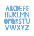 cute hand drawn alphabet with sea pattern vector image vector image