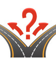 decision making image two roads on vector image
