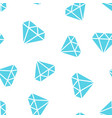 diamond jewel gem icon seamless pattern vector image