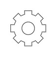 dotted shape gear industry technology information vector image vector image