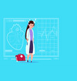 female doctor tired napping medical clinics worker vector image