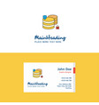 flat database logo and visiting card template vector image vector image