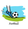 football sketch for your design vector image vector image