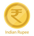 golden coin indian rupee official currency of vector image