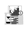 growth financial chart vector image vector image