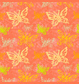 grunge seamless pattern with butterflys vector image vector image