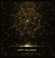 halloween card with spider web vector image