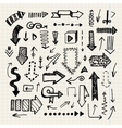 hand drawn doodle arrow collection isolated vector image vector image