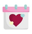 happy valentines day calendar reminder date love vector image