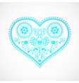 heart shape ornament for valentines day greeting vector image vector image