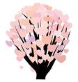Hearts on bush vector image vector image