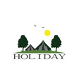 holiday camp garden logo vector image vector image