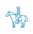 horse riding linear icon concept horse riding vector image vector image