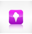 Ice cream web icon Application button vector image