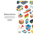 isometric logistics and delivery icons vector image vector image