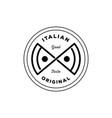 italian original pizza logo vector image vector image