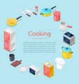 kitchen utencils for posters vector image