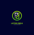 logo letter p with circle gradient colorful vector image vector image