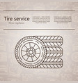 logo - tire services vector image vector image