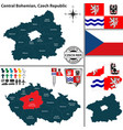 map of central bohemian czech republic