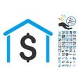 Money Garage Icon With 2017 Year Bonus Symbols vector image vector image