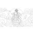 moon goddess vector image