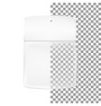 packaging white gray transparent empty packaging vector image vector image