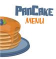pancake menu pancake background image vector image