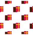 Pink box with chocolate pattern seamless