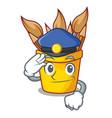 police pencil pot shape on the cartoon vector image