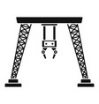 port hand crane icon simple style vector image