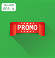 promo ribbon icon business concept promo sticker vector image