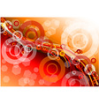red hot background with circles vector image vector image