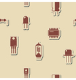 Seamless background with electronic components vector image vector image