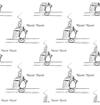 seamless pattern with cat vector image vector image