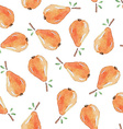 Seamless Patterns with watercolor pears vector image vector image