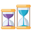 set of hourglass on white background vector image